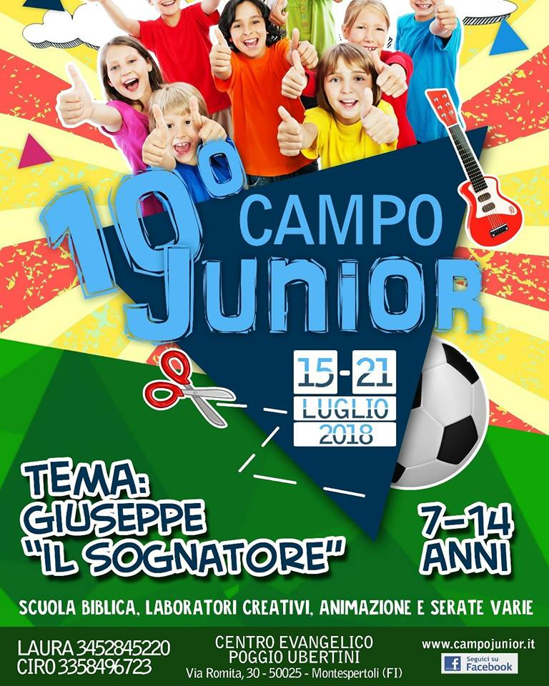 Campo Junior 7-14 anni