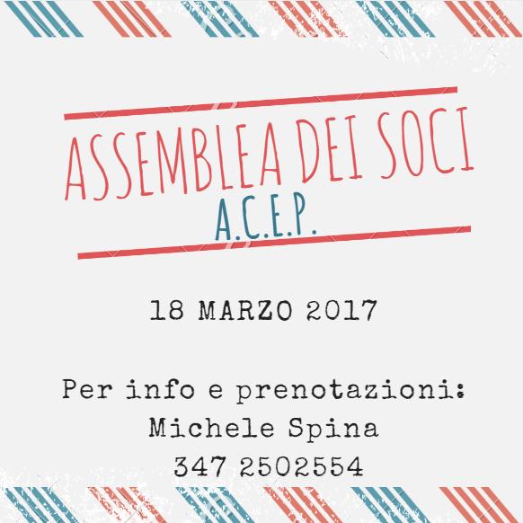 Assemblea annuale dei Soci A.C.E.P.