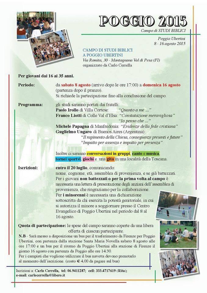 Campo giovani - Cerrella